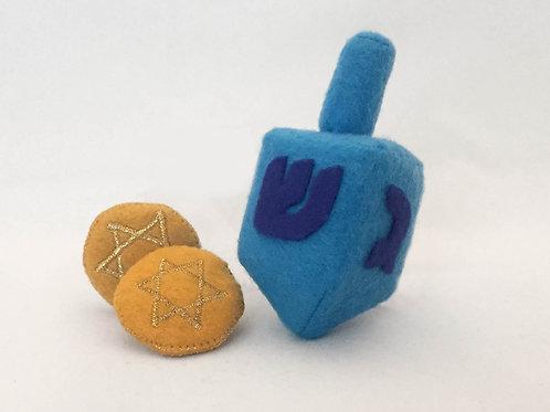 Dreidel and Gelt Cat Toy gift set