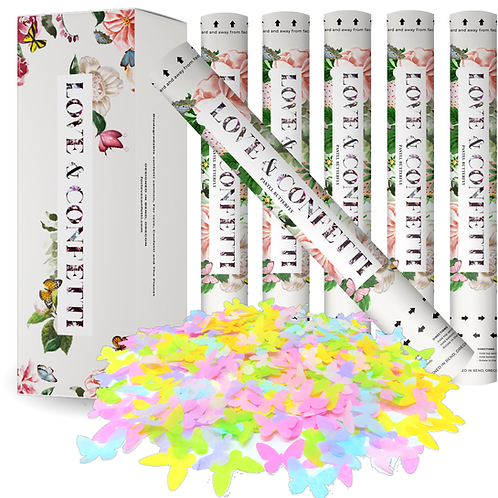 Pastel Colors Butterfly Biodegradable confetti cannons