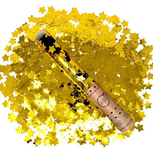 GOLD Star Confetti Cannons
