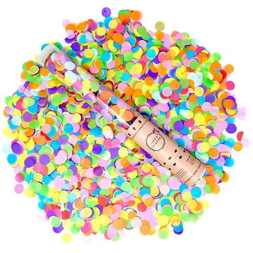 MULTI- COLORS Round Confetti Cannons