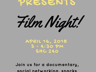 Reminder: SDA Meeting - Film Night