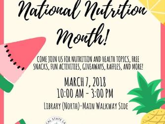 Reminder: National Nutrition Month