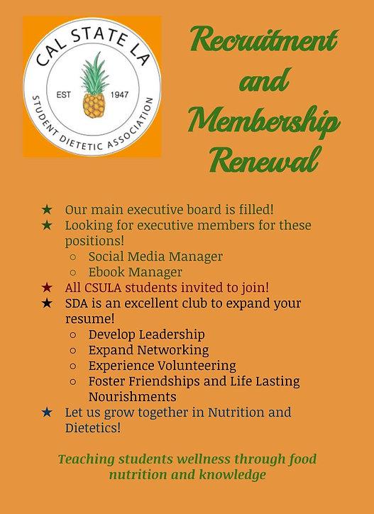 SDA Recruitment and Membership Renewal.j