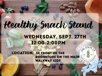 Reminder: Healthy Snack Stand (Build-Your-Own Trail Mix)