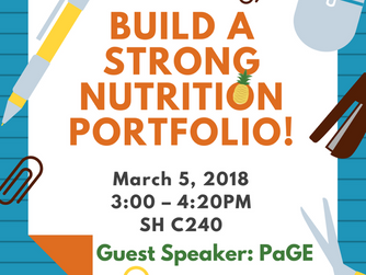 Reminder: Building a Strong Nutrition Portfolio