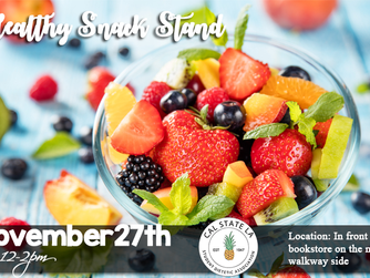 Reminder: Healthy Snack Stand