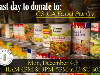 CSULA Food Pantry - Last Day to Donate
