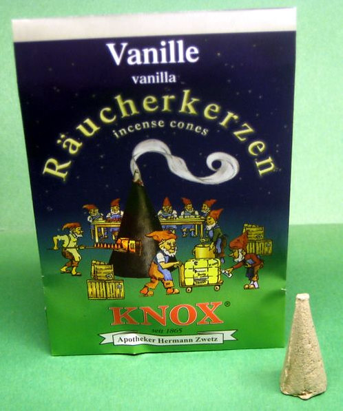 "#014-230 - Famous KNOX Brand ""Vanilla"" Incense Cones - 5 pc Sample Packet"