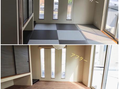 畳のお部屋も新感覚!床リノベーションで安心快適|ロボフロアー施工|広島市S様邸