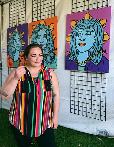 Tatlong Maria Live Painting at the Pistahan Festival in San Francisco, CA 2019