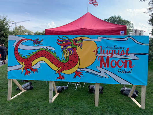 Live Painting at August Moon Festival in Quincy, MA 2019