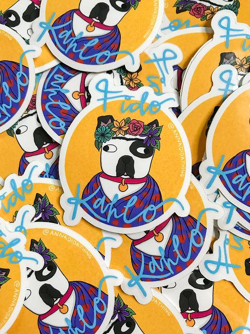 Fido Kahlo Sticker