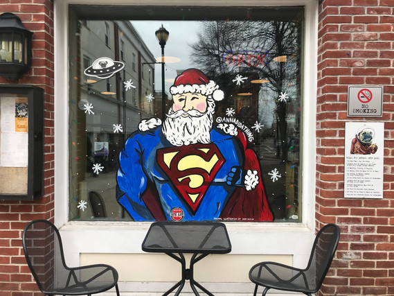 Super Santa at Flying Saucer Pizza Salem, MA 2018
