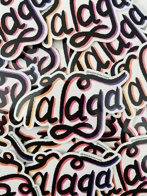Talaga Sticker