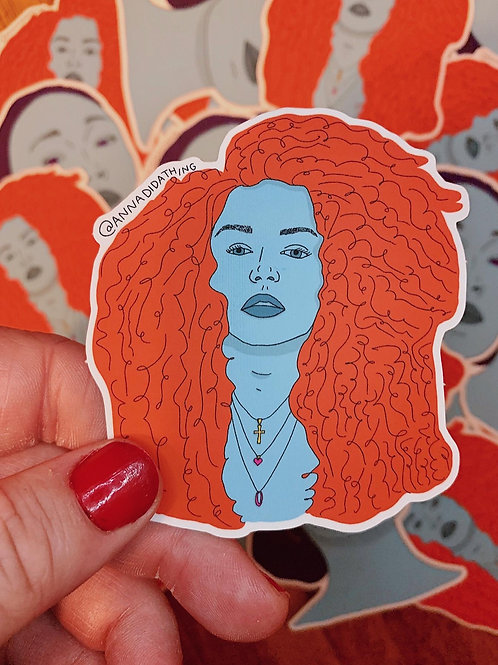 Strong Womxn (2) satin matte vinyl sticker
