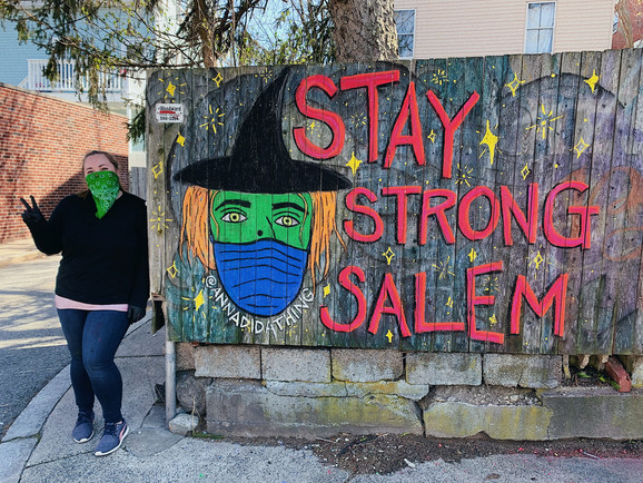 Stay Strong Salem Fence Mural 2020
