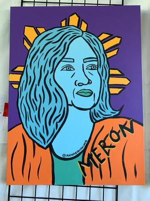 Maria Luisa  1/3 of Tatlong Maria Live Painting at the Pistahan Festival in San Francisco, CA 2019