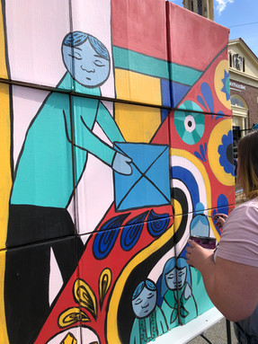 The Balikbayan Box  Live Painting at The Peabody International Festival in Peabody, MA 2019