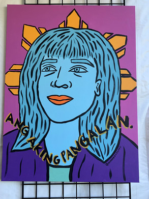 Maria Regina  3/3 of Tatlong Maria Live Painting at the Pistahan Festival in San Francisco, CA 2019