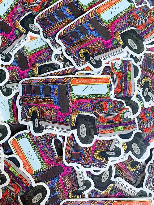 Jeepney Sticker