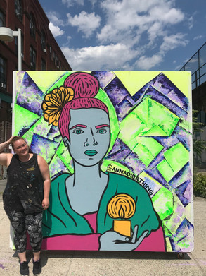 Ate Ilaw Mural collaboration with Ashley Cole for Ironbound Lynn in Lynn, MA 2019