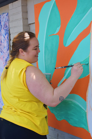 Work in Progress at Salem Arts Festival Mural Slam 2019