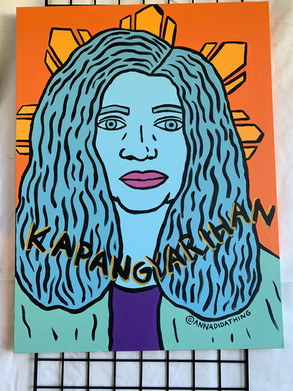 Maria Mercedes  2/3 of Tatlong Maria Live Painting at the Pistahan Festival in San Francisco, CA 2019