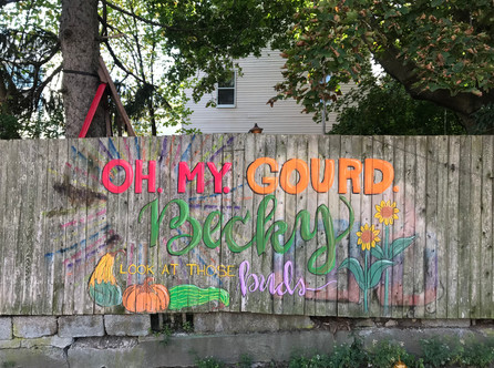 Oh My Gourd Fence Mural 2018