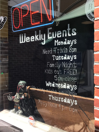 Weekly Events at Flying Saucer Pizza Salem, MA 2018