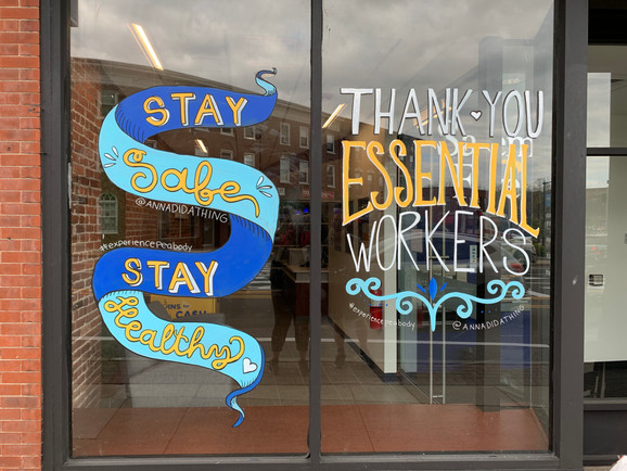 Stay Safe. Stay Healthy. Thank You Essential Workers.  - Salem Five Bank Peabody, MA 2020