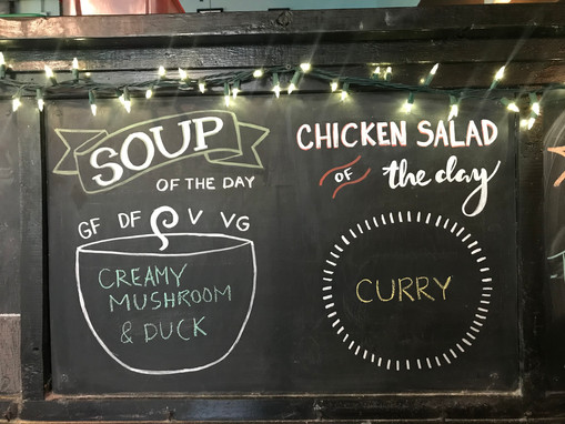 Soup & Chicken Salad of the Day 2018