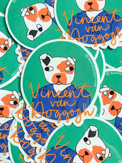 Vincent Van Doggogh Sticker