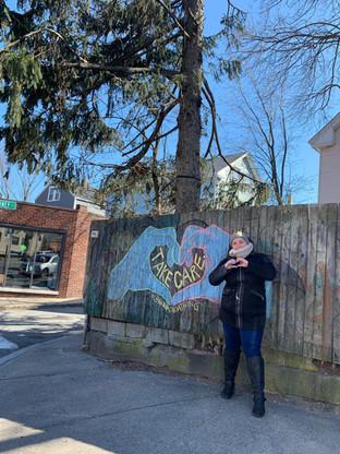 Take Care - Chalk Mural 2020