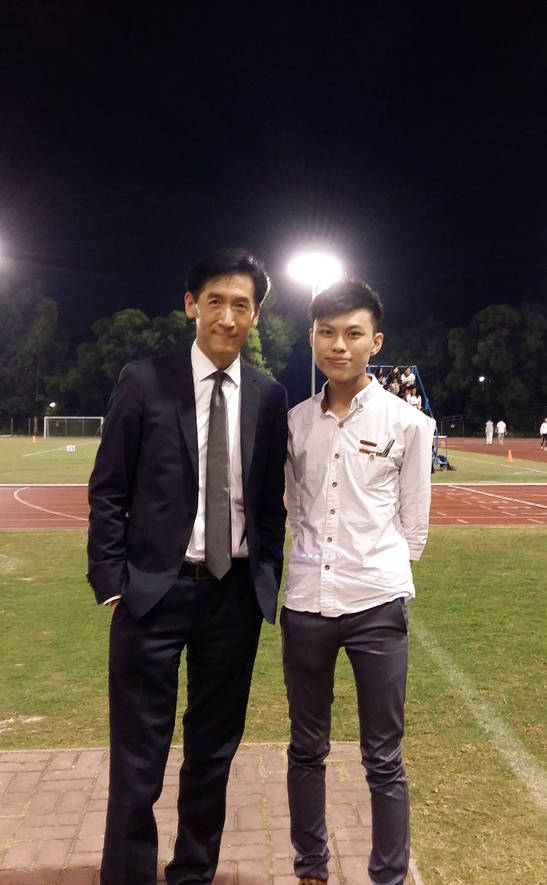 With my mentor and composition supervisor, professor Victor Chan