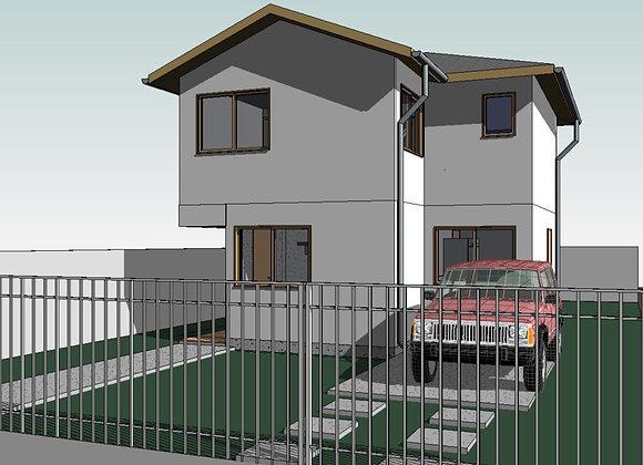 Casa 2 pisos - 80,00 m2