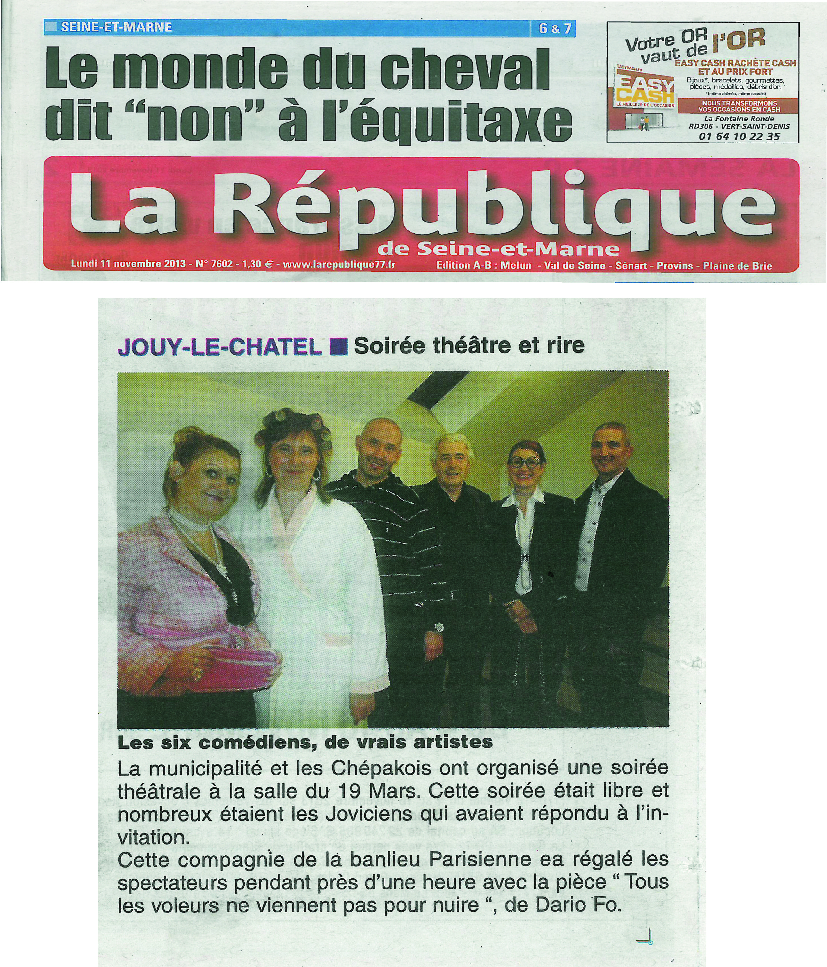 ARTICLE PROVINS