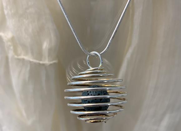 Lava Stone Small Diffuser Necklace
