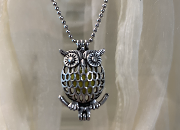 Owl Small Diffuser Necklace