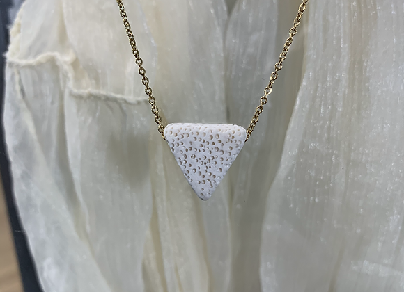 White Lava Stone Necklace