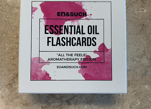 Essential Oil Flash cards. All The Feels Aromatherapy Edition