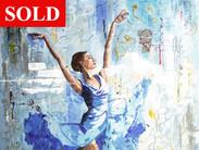 Blue Ballerina -SOLD