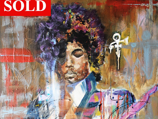 Prince With Guitar -SOLD
