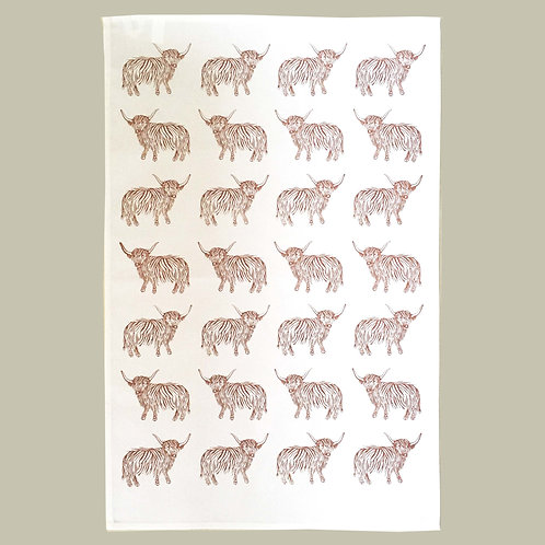 Highland CowTea Towel