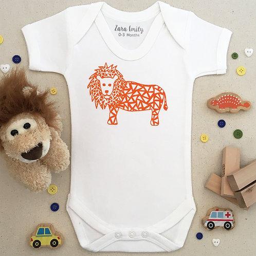 Lion Baby Bodysuit