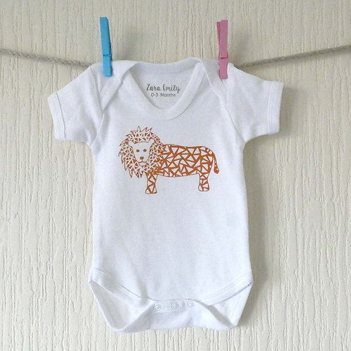 Lion Baby Bodysuit