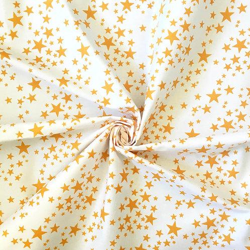Hand Printed Star Fabric Panel