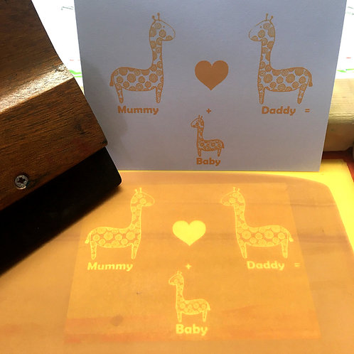 Giraffe New Baby Card