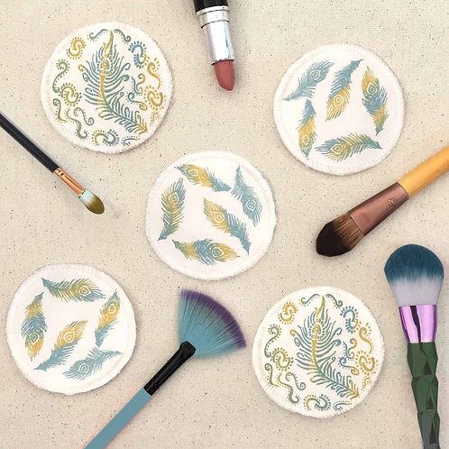 Make up remover pads peacock design