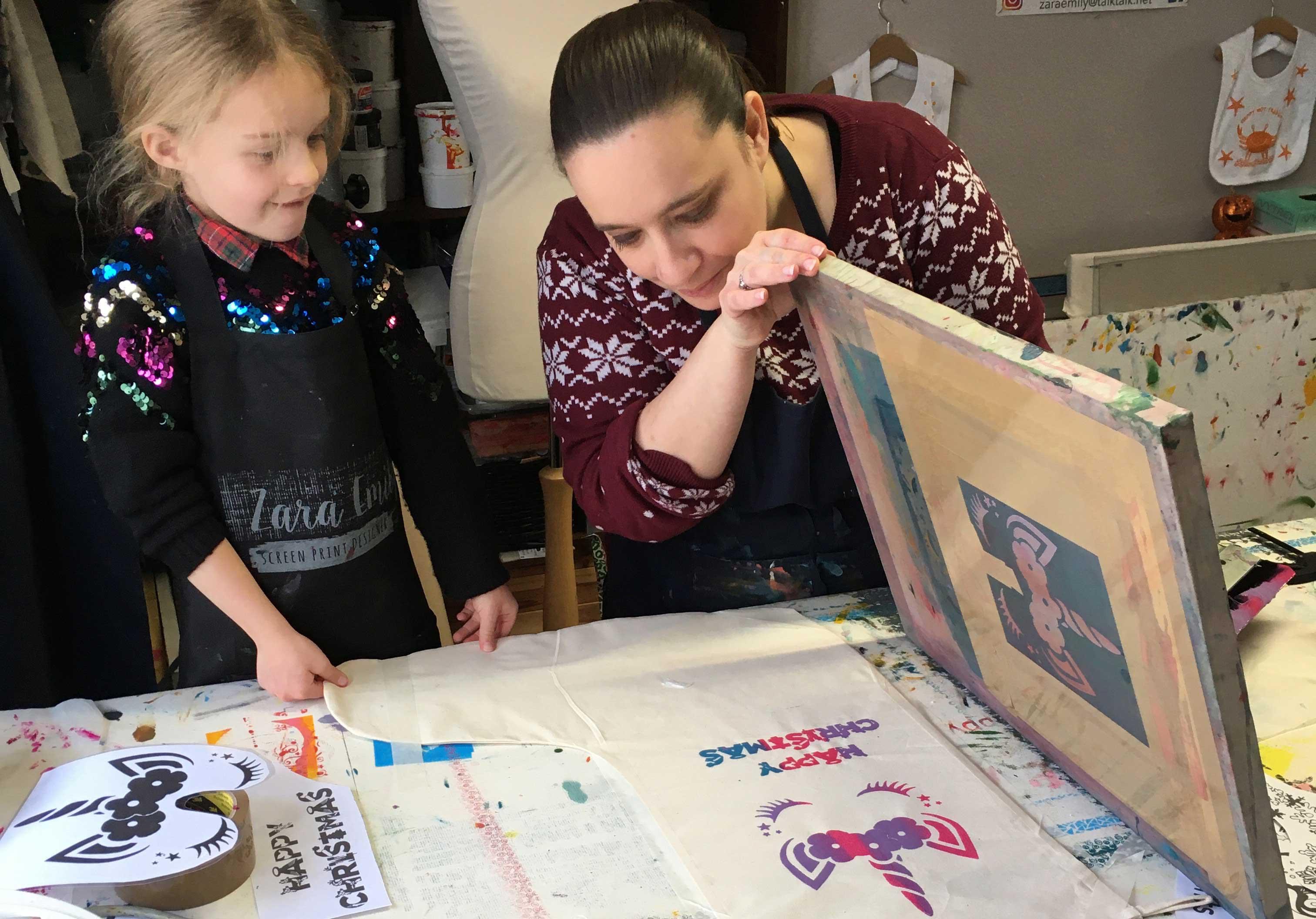 Children's Xmas Screen Printing