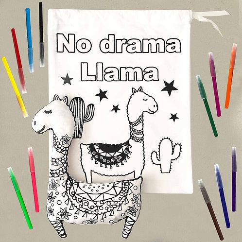 Colour in llama craft set
